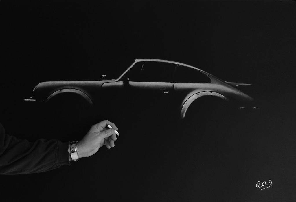 Porsche painting