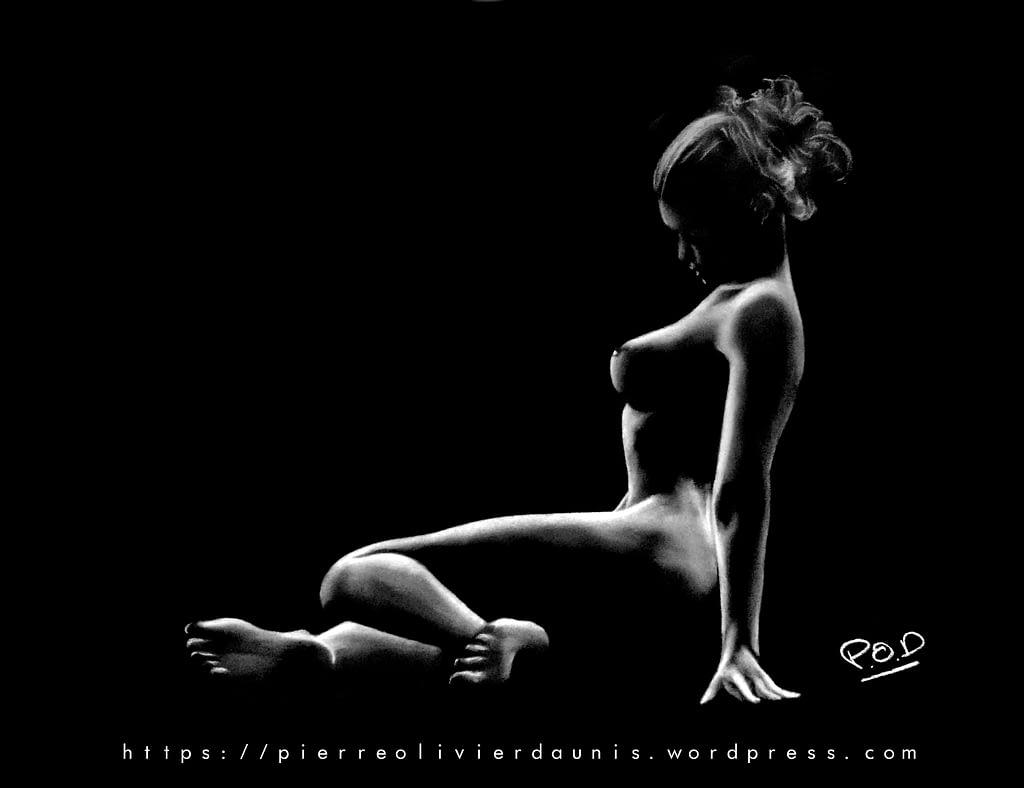 tableau moderne de femme nue 87 .femme nue 87 peinture d'art