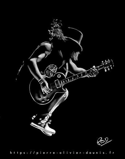 tableaux de musique et de musiciens: peinture de guitariste Rock N Roll