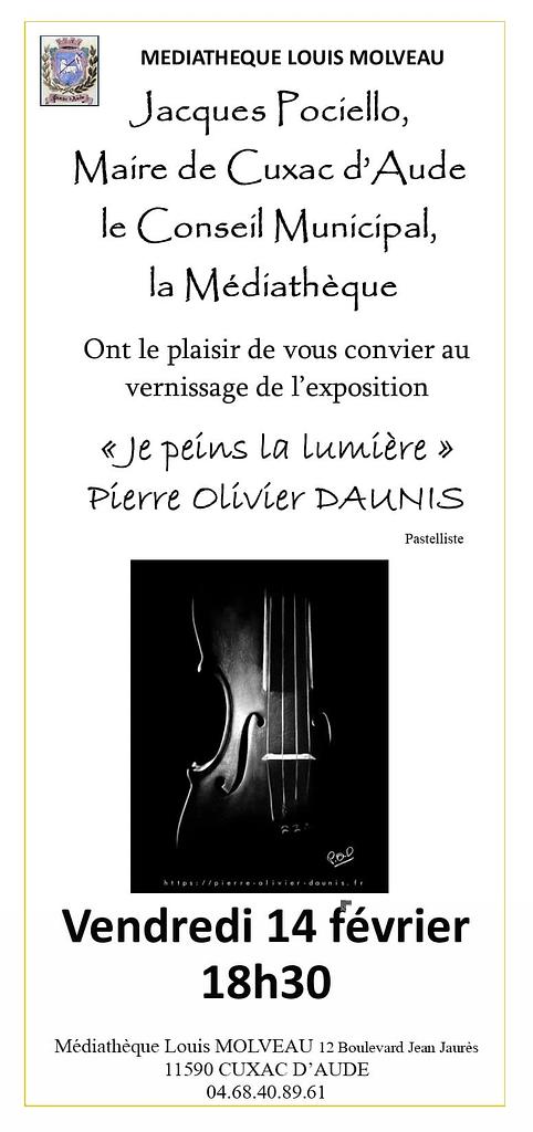 Invitation exposition Daunis