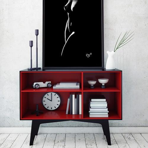 Tableau de femme nue 84 peinture moderne au pastel sec