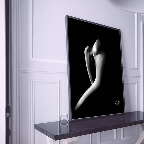 tableau moderne de femme nue 73 au pastel sec nude woman painting