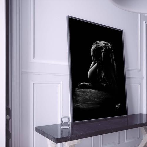 tableau moderne de femme nue 71 au pastel sec nude woman painting