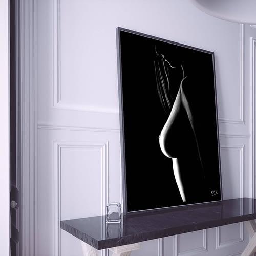 tableau moderne femme nue 2 au pastel sec
