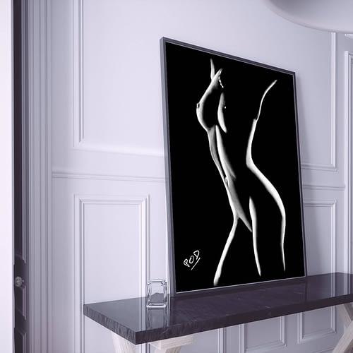 tableau moderne femme nue 15 au pastel sec
