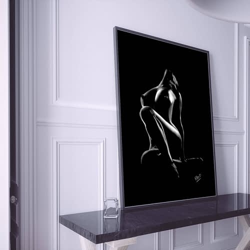 Nu artistique moderne féminin 36 au pastel sec