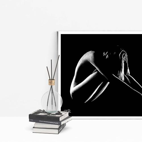 Décoration murale peinture de femme nue 27 au pastel sec Nude woman painting
