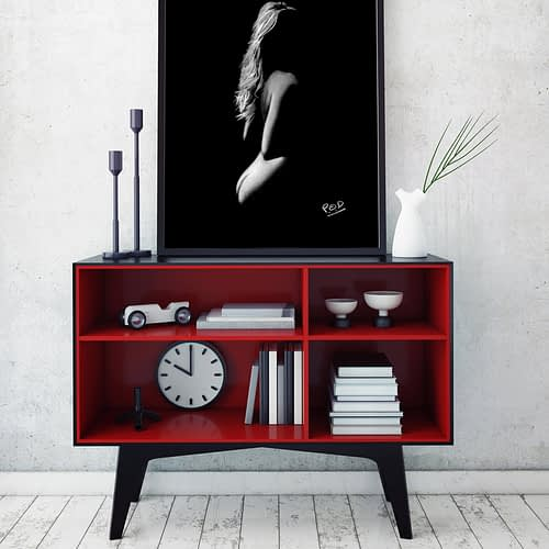 tableau moderne de femme nue 54 au pastel sec nude woman painting