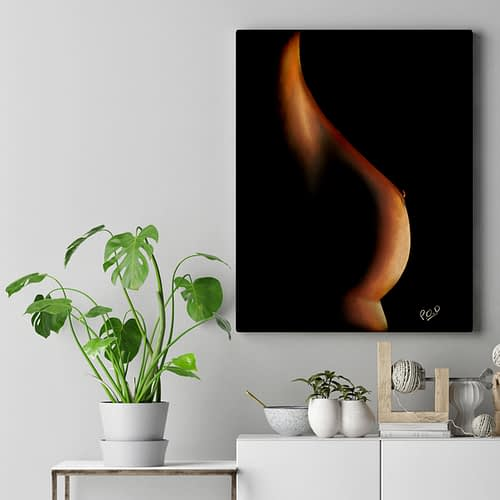 tableau moderne de Silhouette de femme couleur 1