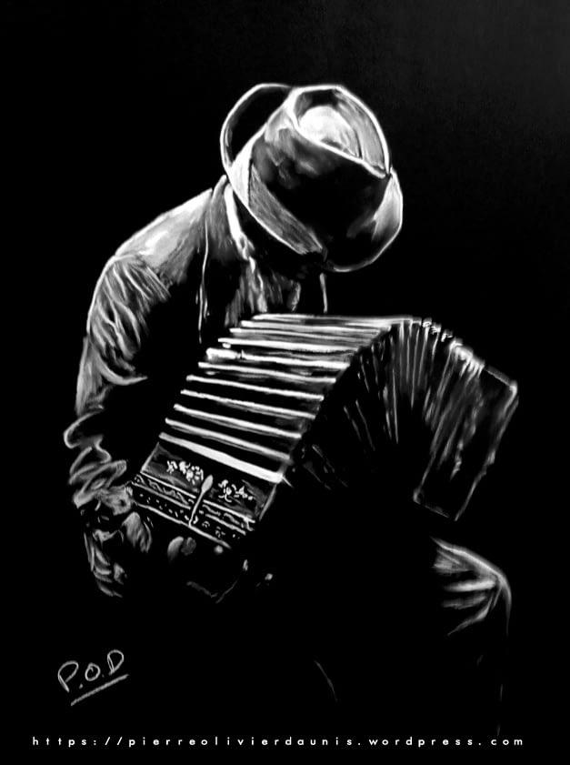 Le bandonéoniste : Tableau de musique accordéoniste 1