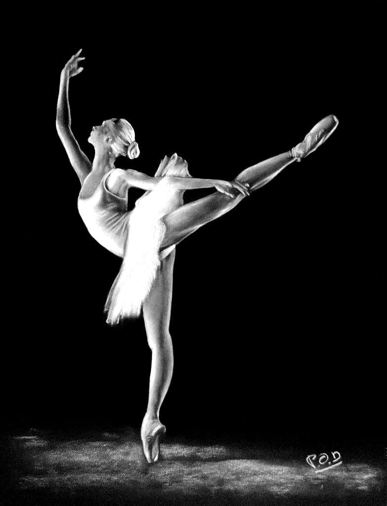 Tableau moderne danseuse classique 2 . dance painting