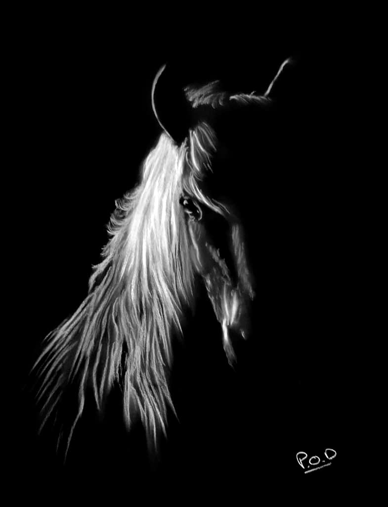 tableau de cheval