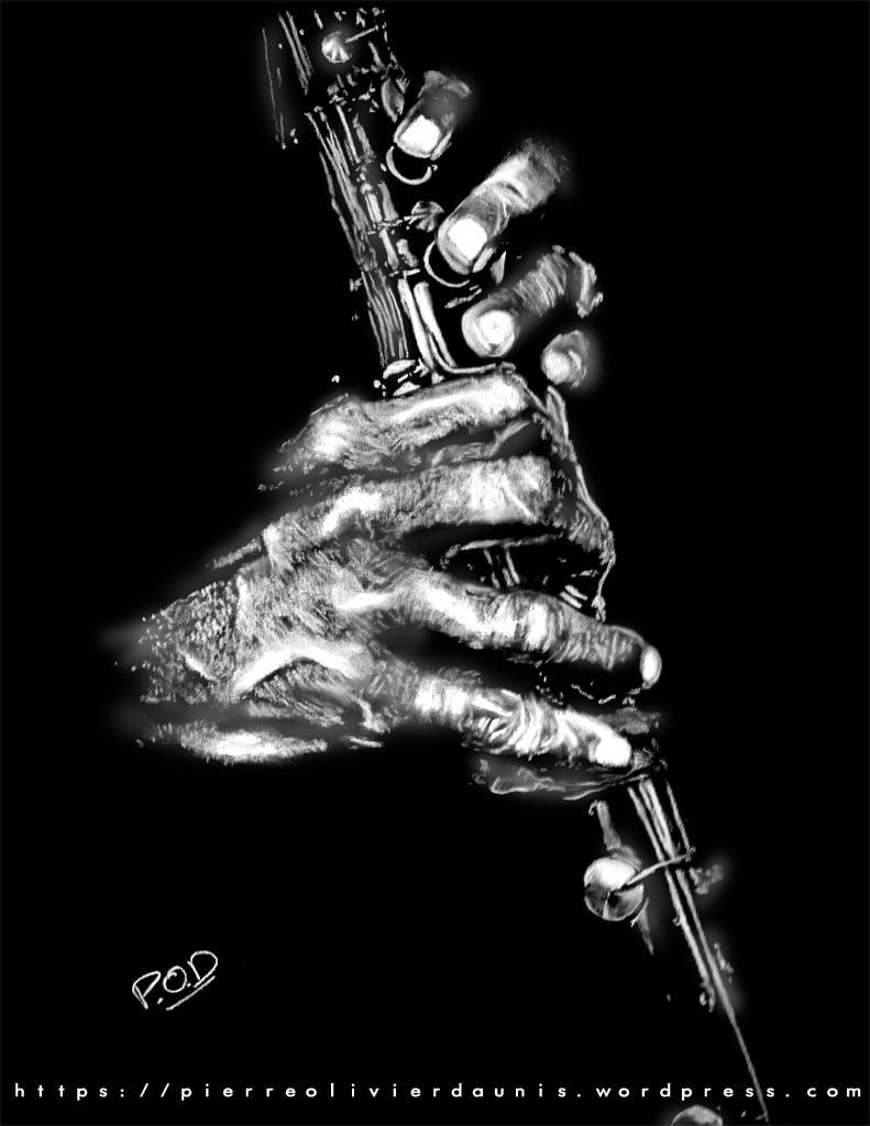 clarinettiste au pastel