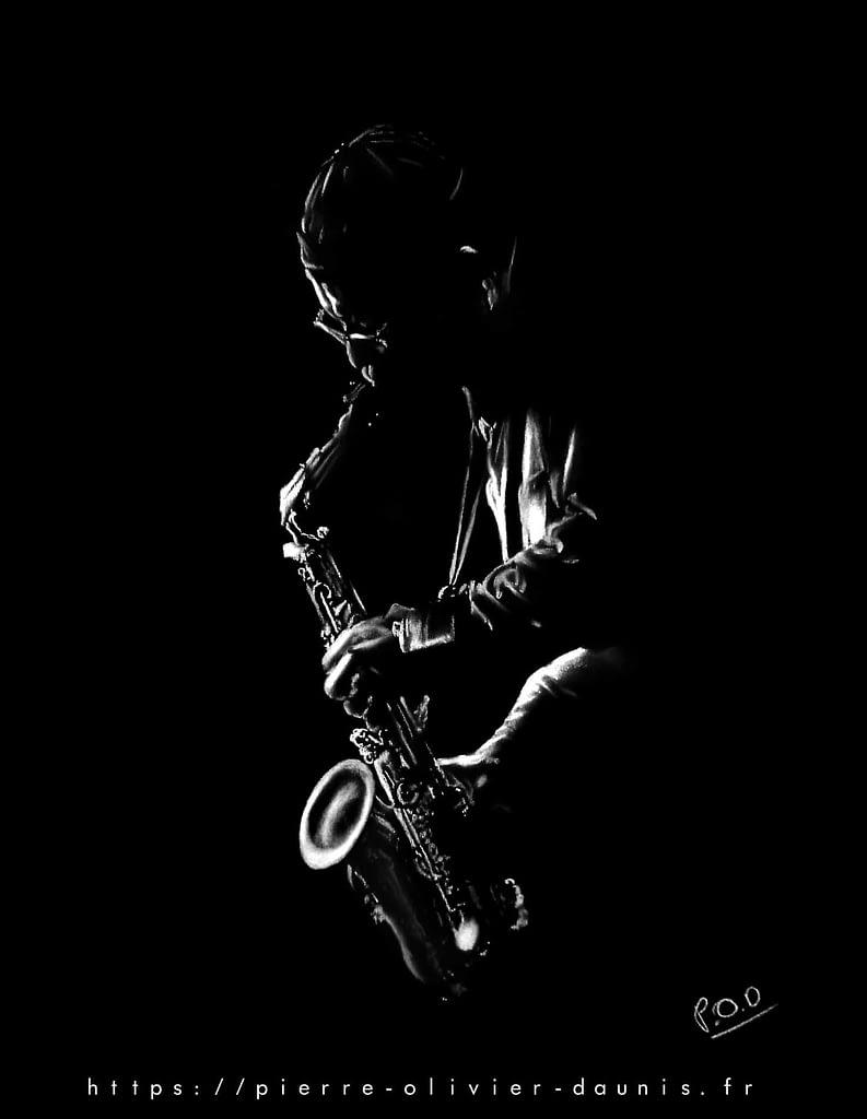 Tableau-de-musique-13-saxophoniste-n°2