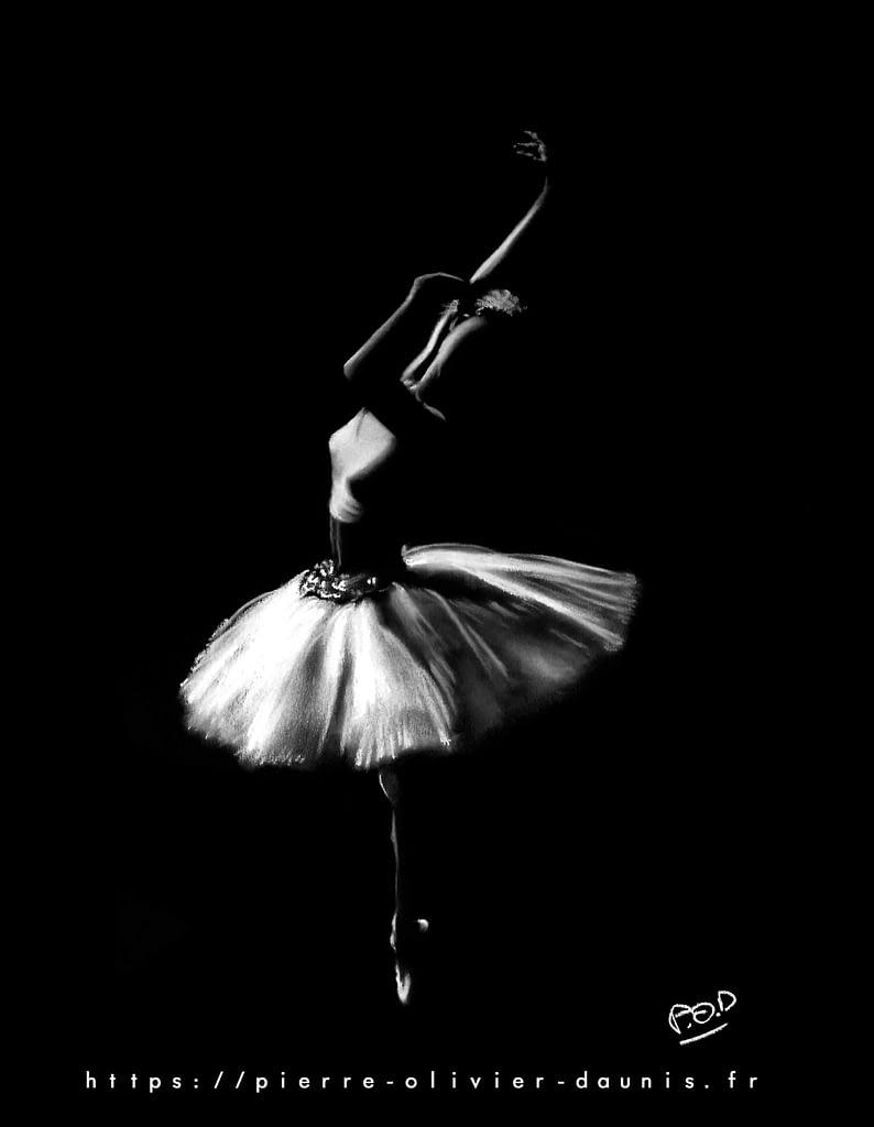 tableau-peinture-moderne-de-danseuse classique peinture de danse