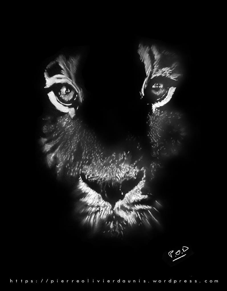 Peinture moderne de tigre - tiger painting