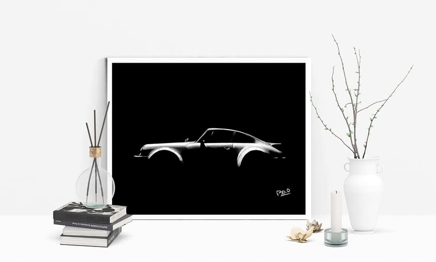 Tableau de Porsche grand format sur commande(110X75cm)