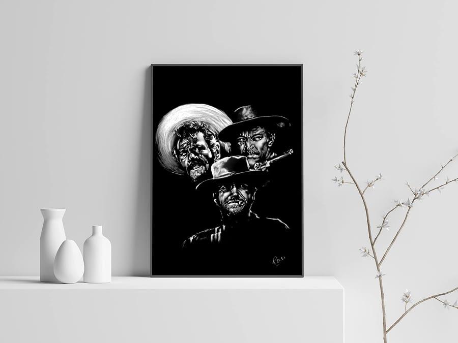 tableau moderne Le Bon, la Brute et le Truand