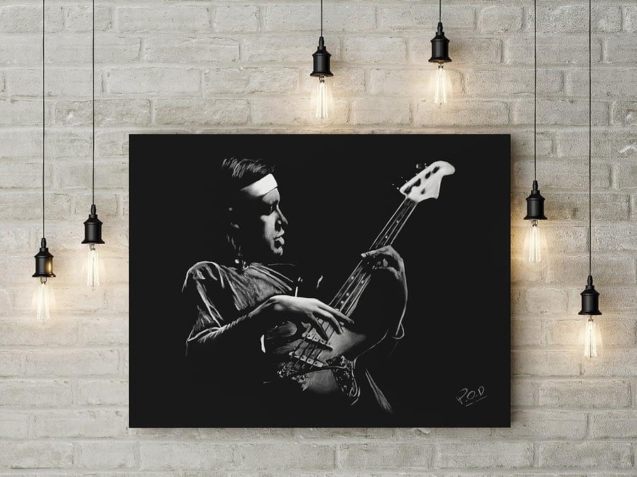 Tableau de bassiste 2 Jaco Pastorius. Guitarist modern painting
