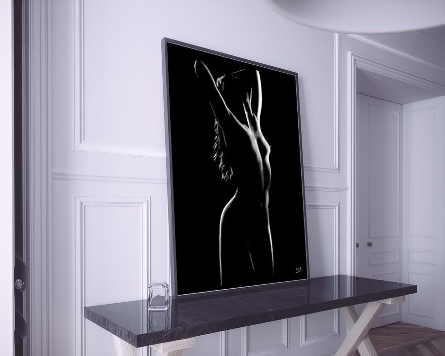 tableau moderne femme nue 10 au pastel sec