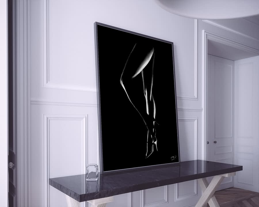 tableau moderne femme nue 25 au pastel sec