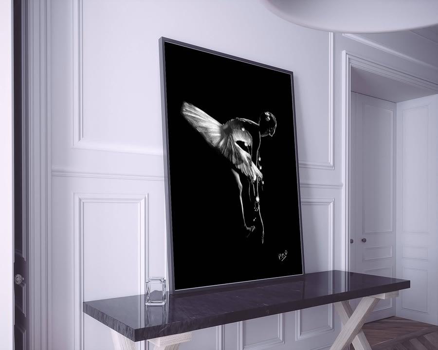 tableau peinture moderne de danseuse classique pastel 10 dance-painting
