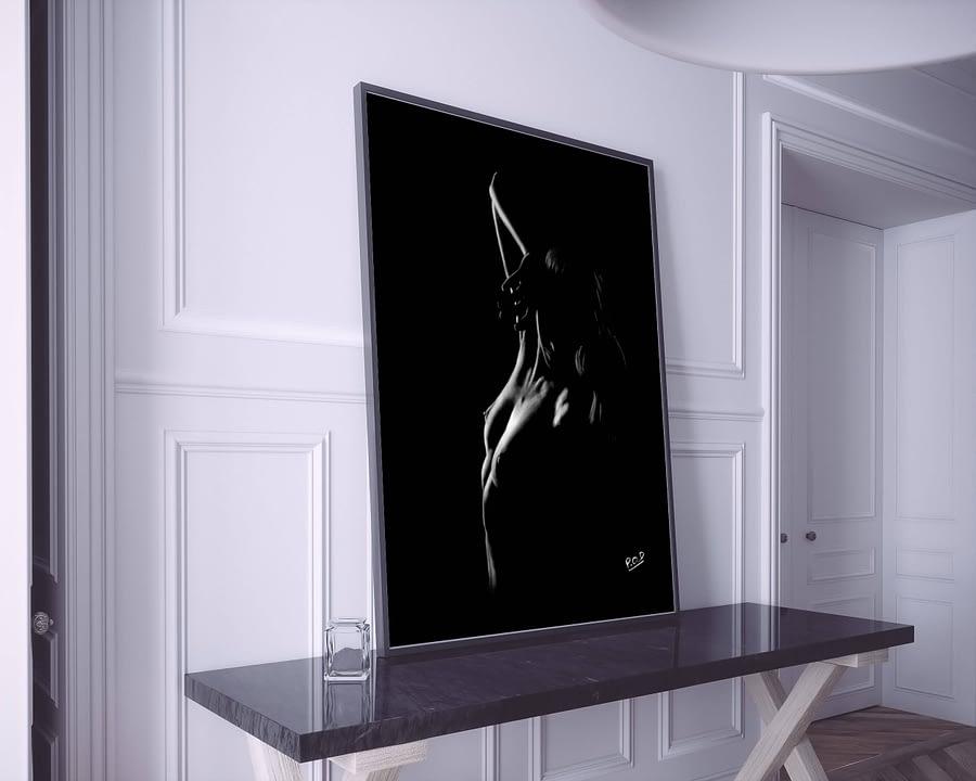 tableau moderne de femme nue 61 au pastel sec nude women painting