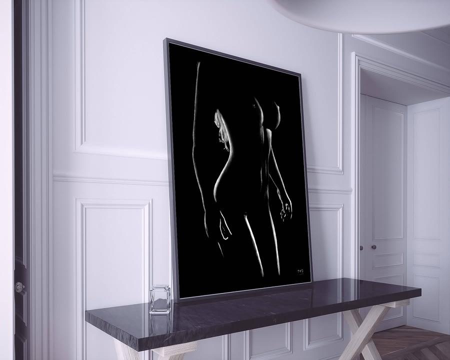 tableau moderne femme nue 19 au pastel sec