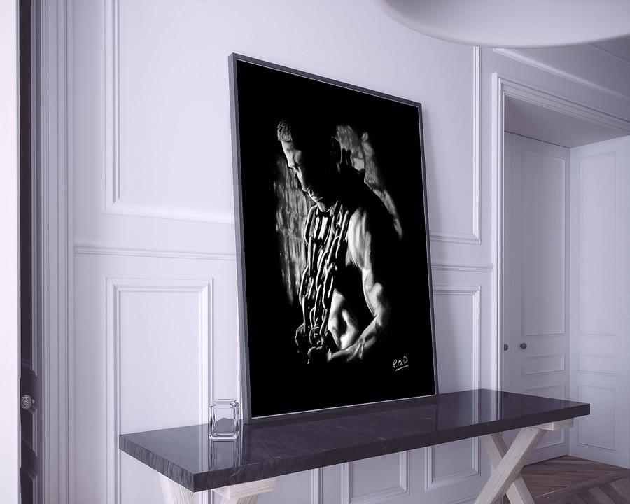 the prisoner modern pastel painting design-by-Daunis-Pierre-Olivier-artistic-nude-7-peinture-homme-nu-7