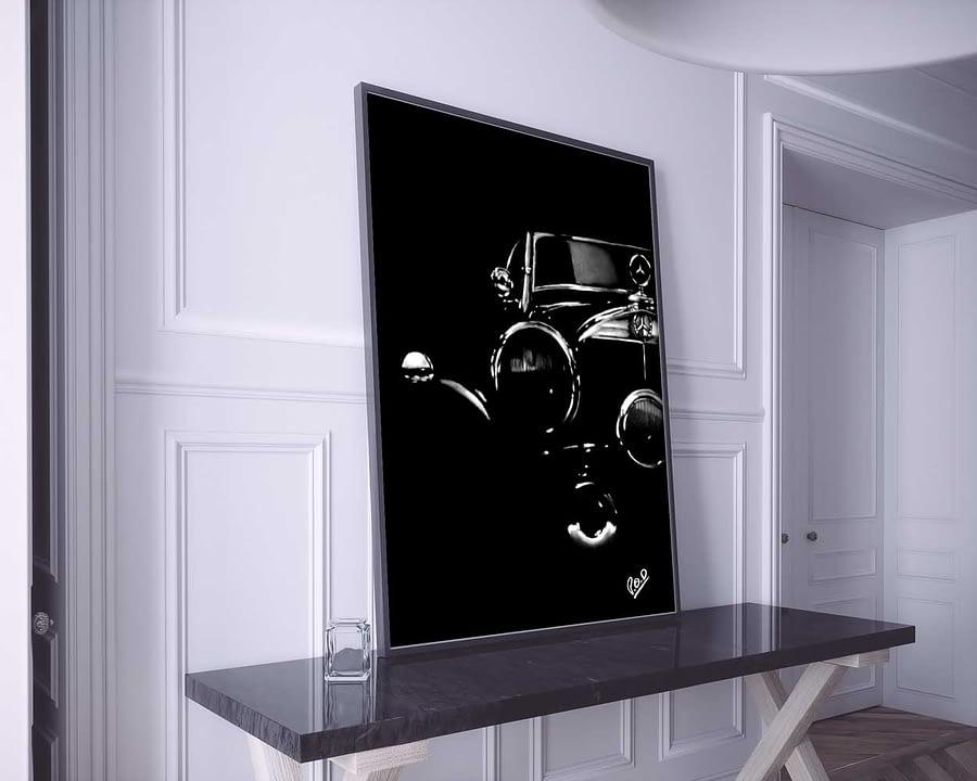 MERCEDES-BENZ-modern-pastel-painting-tableau-design-Daunis-Pierre-Olivier