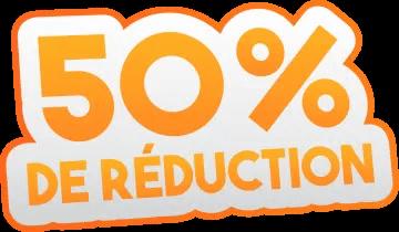 réduction 50%